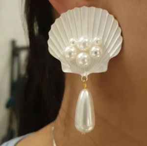 *COMING SOON* Seashell Pearl Earrings